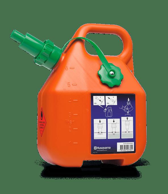 Kanister na benzín, 6 l, oranžový Kanistre a plniace príslušenstvo