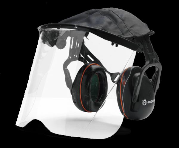 Chrániče so štítom z plexiskla Chrániče sluchu
